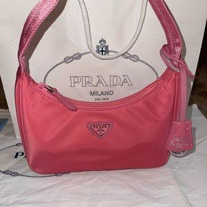 Prada Re-Edition 2000 Pink Nylon Bag